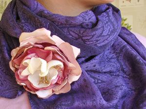 Изготавливаем текстильную брошь «Пион». Ярмарка Мастеров - ручная работа, handmade.