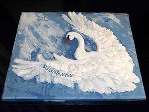 """Мастер класс мыльной картины """"Белый лебедь"""".. Ярмарка Мастеров - ручная работа, handmade."""