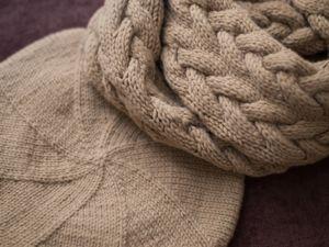 Учимся вязать спицами простой берет. Ярмарка Мастеров - ручная работа, handmade.