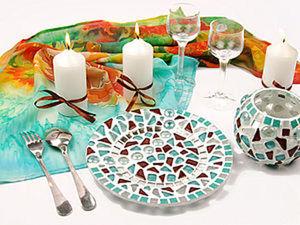 Декорирование тарелки мозаикой «Созвездие». Ярмарка Мастеров - ручная работа, handmade.
