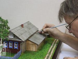Макет деревенского дома. Ярмарка Мастеров - ручная работа, handmade.