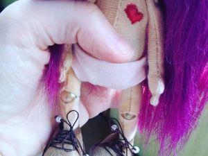 Мастерим ботиночки из искусственной замши для текстильной куклы. Ярмарка Мастеров - ручная работа, handmade.