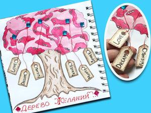 Волшебный урок: рисуем «Дерево Желаний» с интерактивными бирками. Ярмарка Мастеров - ручная работа, handmade.