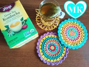 Video Tutorial: Crocheting Beautiful Doily-Trivets from Yarn Leftovers. Livemaster - handmade