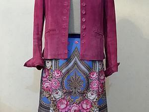Шьем нарядную юбку в русском стиле из платка за 3 часа. Ярмарка Мастеров - ручная работа, handmade.