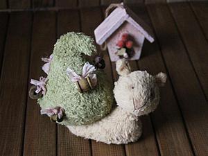 И улитки бывают Тедди — шьем Улитку-Елку. Ярмарка Мастеров - ручная работа, handmade.