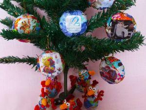 Мастерим «лоскутные» новогодние игрушки из папье-маше и ткани. Ярмарка Мастеров - ручная работа, handmade.
