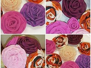 Делаем красивые розы для будущих украшений. Ярмарка Мастеров - ручная работа, handmade.