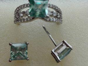 Видео Кольцо и серьги муассаниты серебро. Ярмарка Мастеров - ручная работа, handmade.