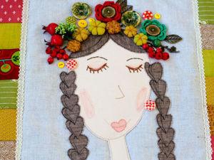«Красавица Осень»: шьем текстильное панно с кармашками. Ярмарка Мастеров - ручная работа, handmade.