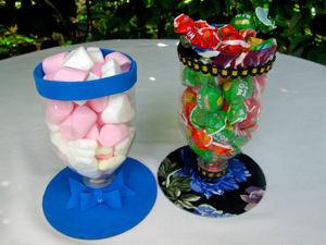 Видео мастер-класс: делаем интересные конфетницы из пластиковых бутылок. Ярмарка Мастеров - ручная работа, handmade.