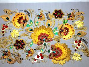 Вышиваем «Хохлому» в разных техниках. Ярмарка Мастеров - ручная работа, handmade.