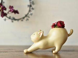 World of Flowers & Animals: 12 Creative Planters by Harimogura. Livemaster - handmade