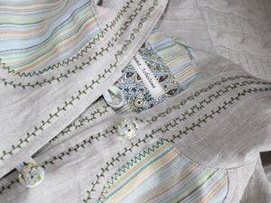 Льняное пальто в деталях. Ярмарка Мастеров - ручная работа, handmade.