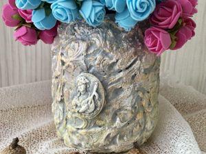 Мастерим оригинальную вазу из пластиковой бутылки. Ярмарка Мастеров - ручная работа, handmade.