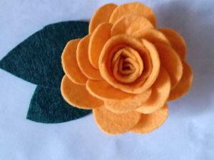 Мастер-класс  «Заколка-роза». Ярмарка Мастеров - ручная работа, handmade.