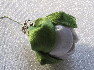 Сборка бутона в технике канзаши. Ярмарка Мастеров - ручная работа, handmade.