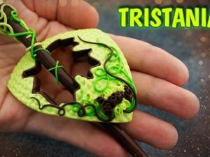 Видеоурок: лепим из полимерной глины брошь для шарфа. Ярмарка Мастеров - ручная работа, handmade.