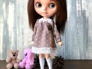 Шьем платье для куклы. Ярмарка Мастеров - ручная работа, handmade.