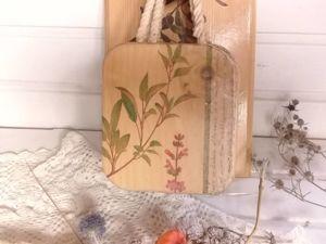 Вживляем салфетки в светлую деревянную поверхность. Ярмарка Мастеров - ручная работа, handmade.