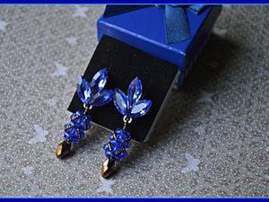 Создаем чудесные серьги «Синие дали». Ярмарка Мастеров - ручная работа, handmade.