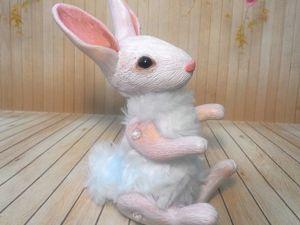 Делаем пасхального кролика из полимерной глины. Часть 1. Ярмарка Мастеров - ручная работа, handmade.