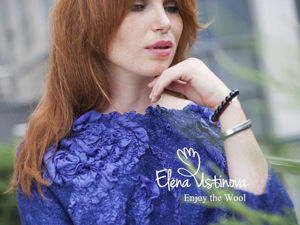 Акция -50% на мастер-класс  «Нуно-войлочная блузка с шелковым цветком». Ярмарка Мастеров - ручная работа, handmade.