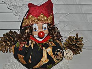 """Шьем ёлочную игрушку """"Клоун Лавандин"""" без швейной машинки. Ярмарка Мастеров - ручная работа, handmade."""