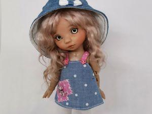 Шьем панамку для куклы. Ярмарка Мастеров - ручная работа, handmade.