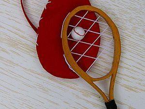 Теннисная ракетка для куклы: мастер-класс. Ярмарка Мастеров - ручная работа, handmade.