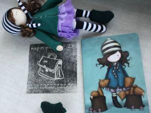 Прекрасный мастер-класс для начинающих — шьем куклу для панно. Ярмарка Мастеров - ручная работа, handmade.