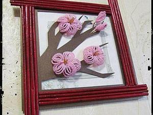 "Делаем панно ""Ветка сакуры"". Ярмарка Мастеров - ручная работа, handmade."