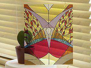 Мастер-класс по росписи по стеклу. Ярмарка Мастеров - ручная работа, handmade.