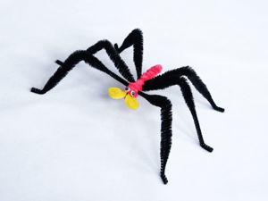Делаем паучка на Хэллоуин! Мастер-класс для детей. Ярмарка Мастеров - ручная работа, handmade.