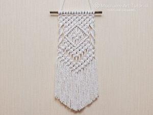 Плетем простое панно в технике макраме. Ярмарка Мастеров - ручная работа, handmade.