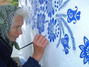 Стрит-арт бабушки Анны: ультрамариновое чудо. Ярмарка Мастеров - ручная работа, handmade.