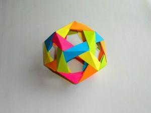 Собираем многогранник — додекаэдр из бумаги. Ярмарка Мастеров - ручная работа, handmade.