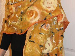 Валяем палантин с розами из префельта. Ярмарка Мастеров - ручная работа, handmade.