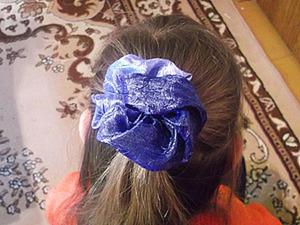 Цветок из ткани на скорую руку.. Ярмарка Мастеров - ручная работа, handmade.