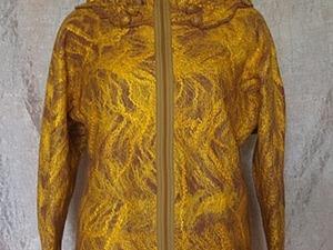 "Валяная курточка ""Золотая осень"". Ярмарка Мастеров - ручная работа, handmade."