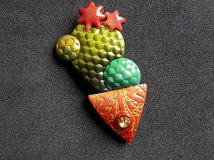 Создаём брошь «Кактус» из полимерной глины. Ярмарка Мастеров - ручная работа, handmade.