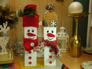 Изготавливаем снеговиков из бруска. Ярмарка Мастеров - ручная работа, handmade.