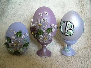 Еще одна идея декора сувенирных пасхальных яиц. Ярмарка Мастеров - ручная работа, handmade.
