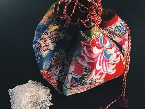 Сумочка-узелок по-японски. Ярмарка Мастеров - ручная работа, handmade.
