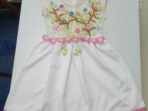 Создаем платье для девочки (крючок и ткань). Ярмарка Мастеров - ручная работа, handmade.