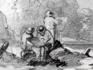 Тонкая выразительность в рисунках живописцев XIX века. Ярмарка Мастеров - ручная работа, handmade.