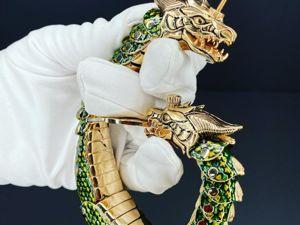 Золотой браслет Дракон. Ярмарка Мастеров - ручная работа, handmade.