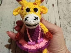 Вяжем крючком игрушку Жирафочку. Ярмарка Мастеров - ручная работа, handmade.