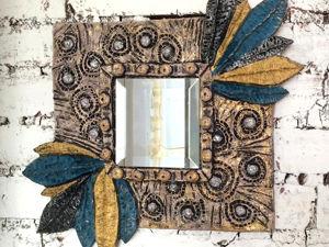 Декорируем зеркало в технике папье-маше. Ярмарка Мастеров - ручная работа, handmade.