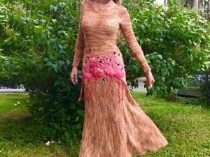 Платье Фламинго. Ярмарка Мастеров - ручная работа, handmade.